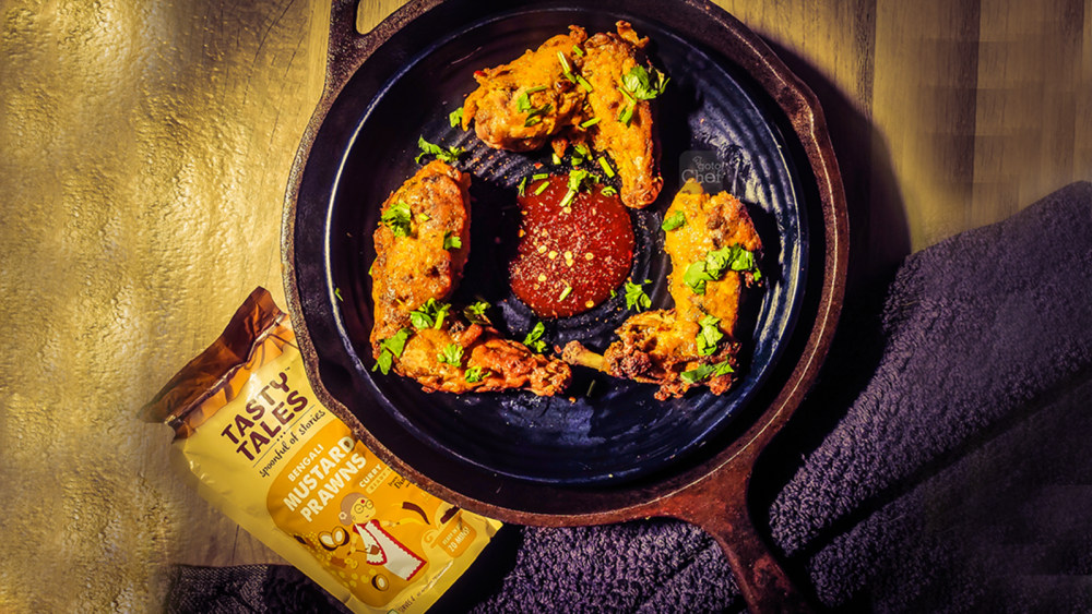 Image of Mustard Coconut Coated Fried Chicken Wings Recipe