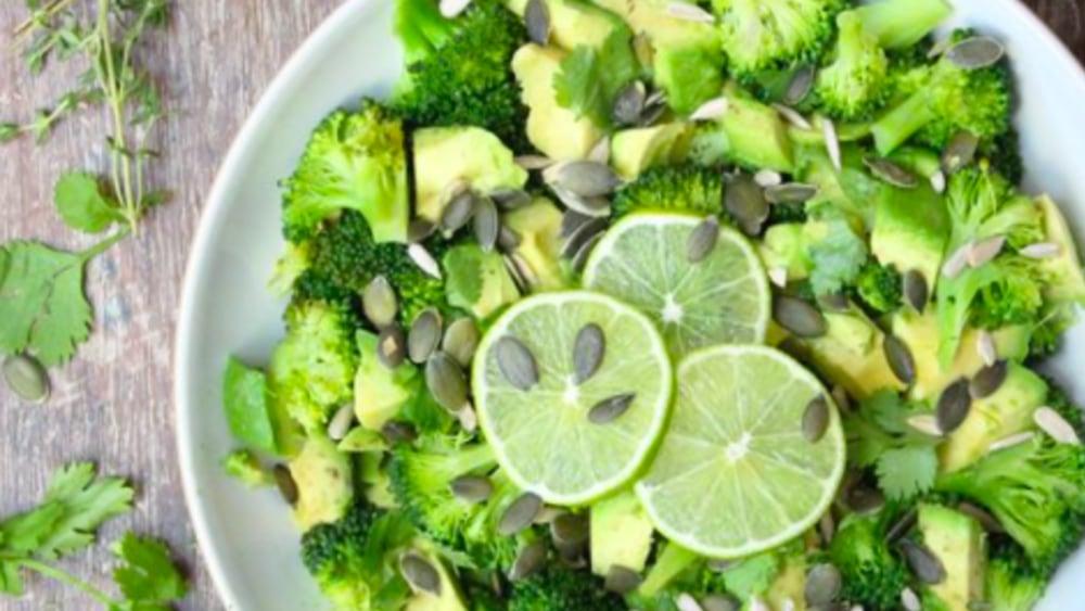 Image of Warm Broccoli Avocado Lime and Coriander Salad