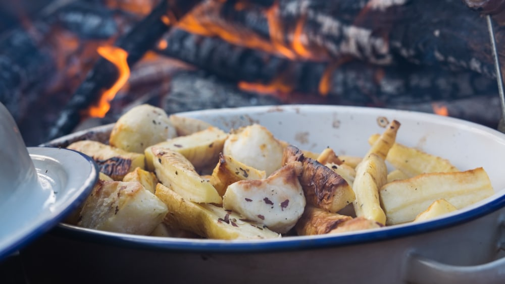 Image of Roasted Parsnips with Laver and Dulse Seaweed Seasoning