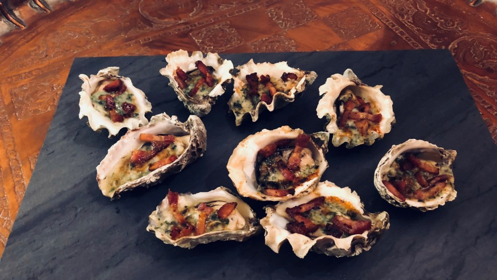 Image of Oysters Rockefeller with Bacon