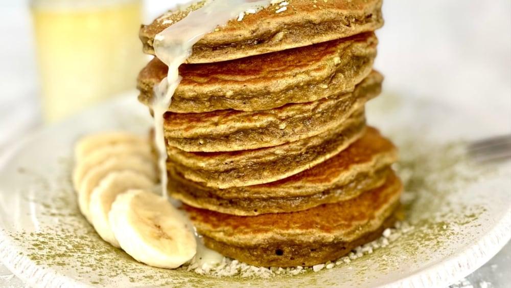 Image of Original Banana Matcha Coconut Pancakes
