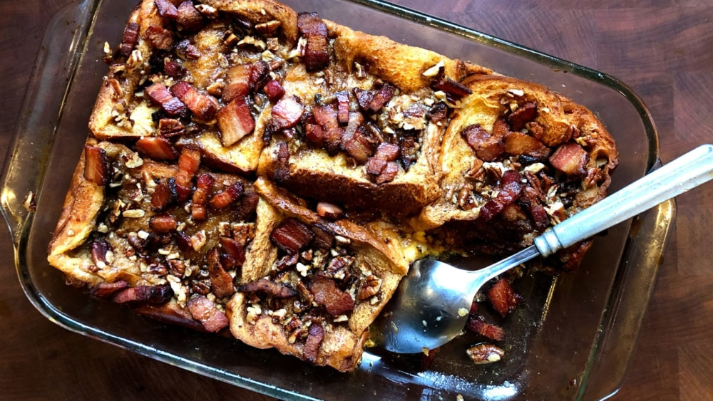 Image of Baked French Toast with Bacon