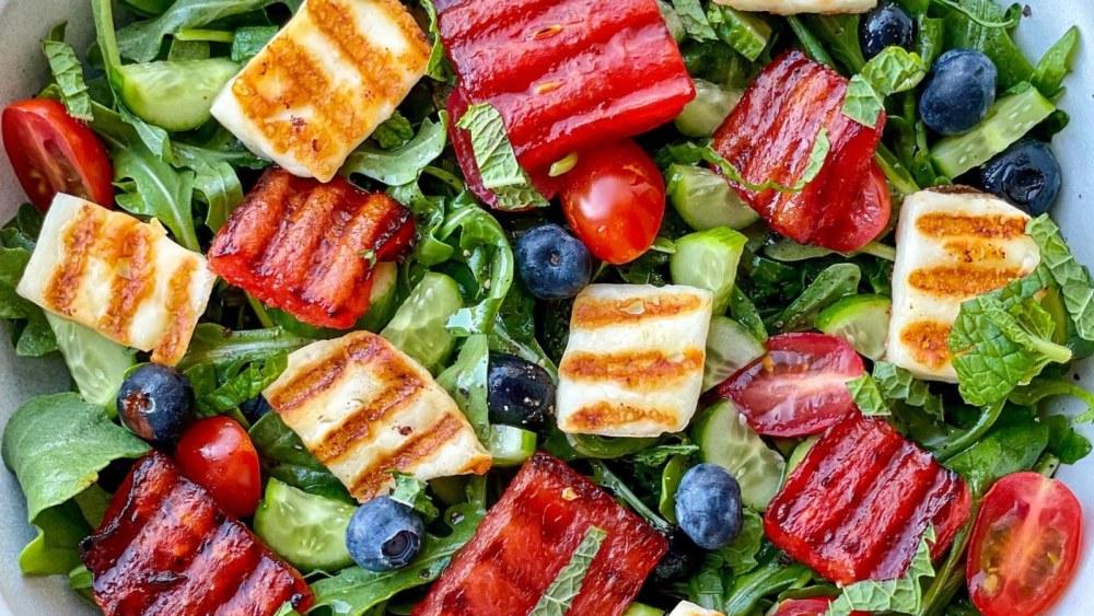 Image of Grilled Watermelon & Halloumi Salad