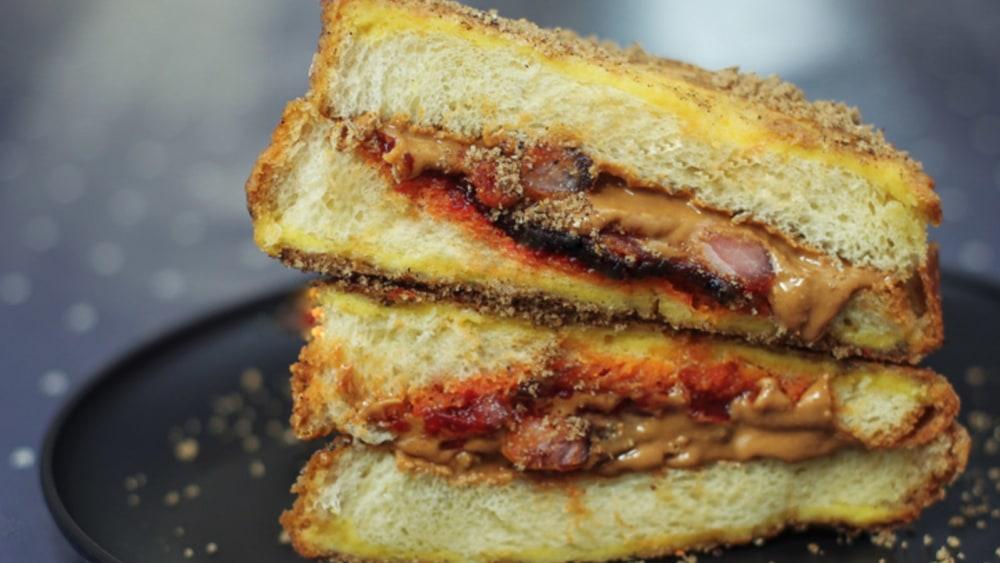 Image of Peanut Butter, Pepper Jelly & Bacon Sandwich