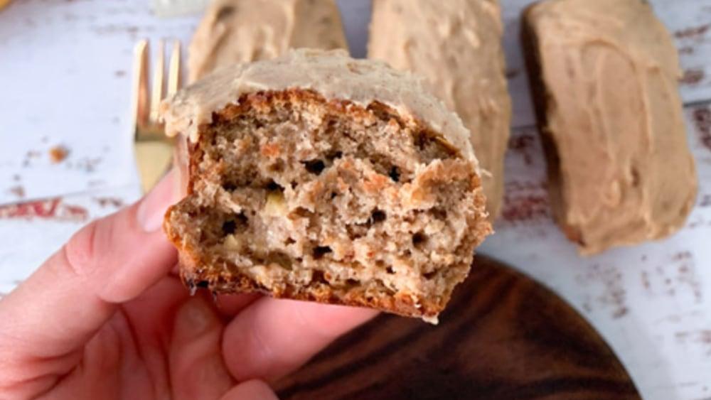 Image ofVegan Mini Salted Caramel Protein Banana Bread