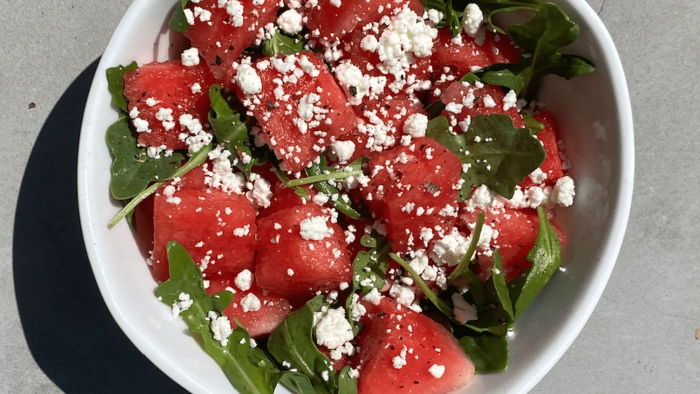 Image of Watermelon Salad with Arugula and Feta