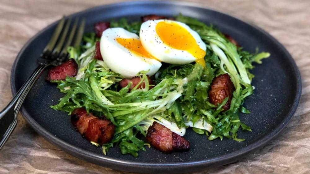 Image of Frisée Salad with Warm Lardons