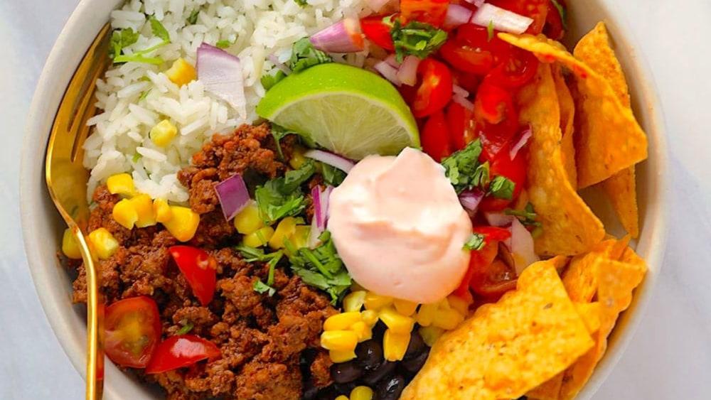 Image ofQuick and Healthy Taco Bowl Recipe | Elijah's Xtreme
