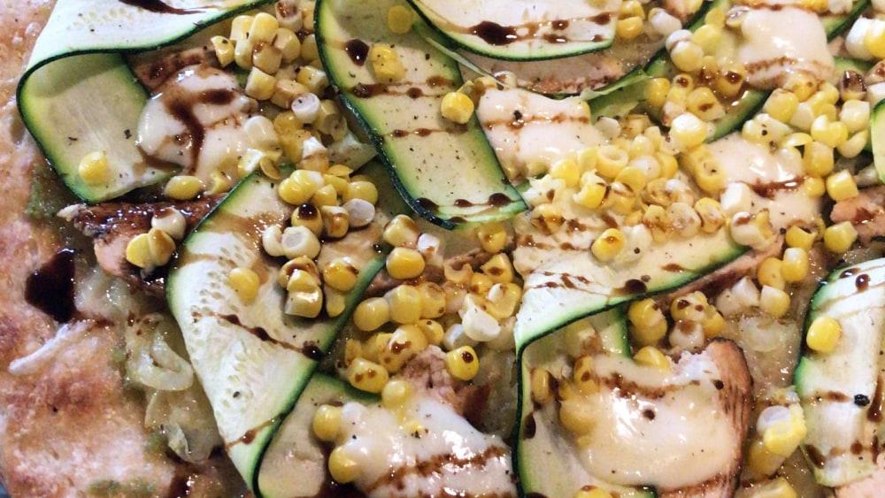 Image of Zucchini Corn Pizza