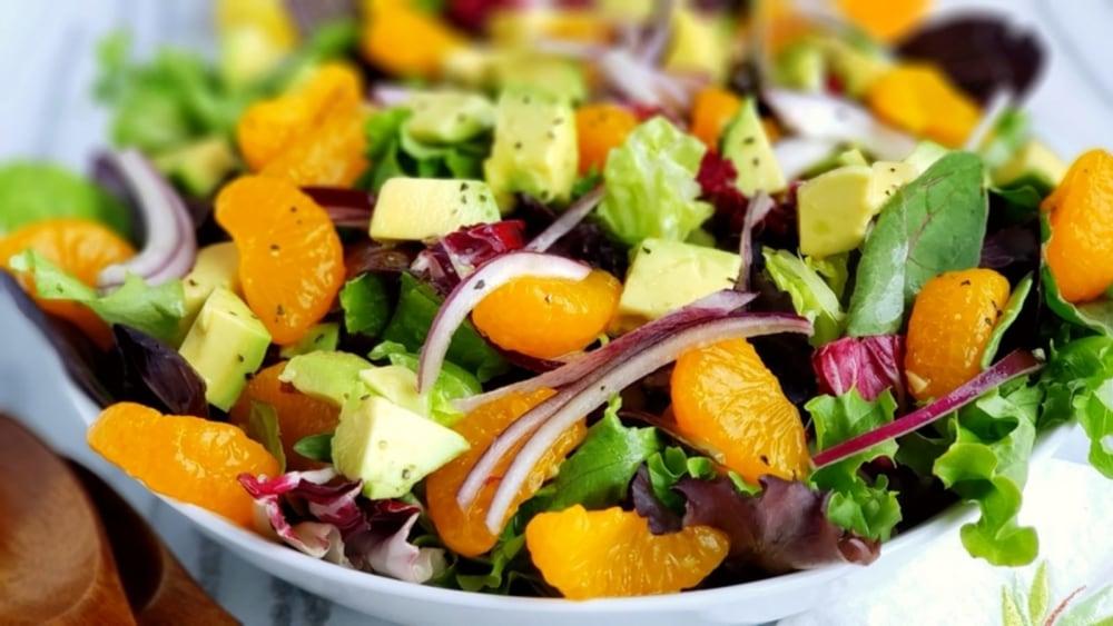 Image of Carrot, Orange, Avocado and Coriander Salad