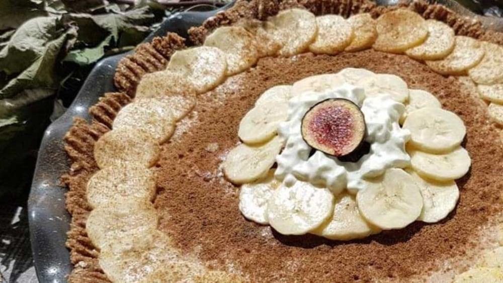 """Image of Banana """"Cream"""" Yoghurt Pie"""