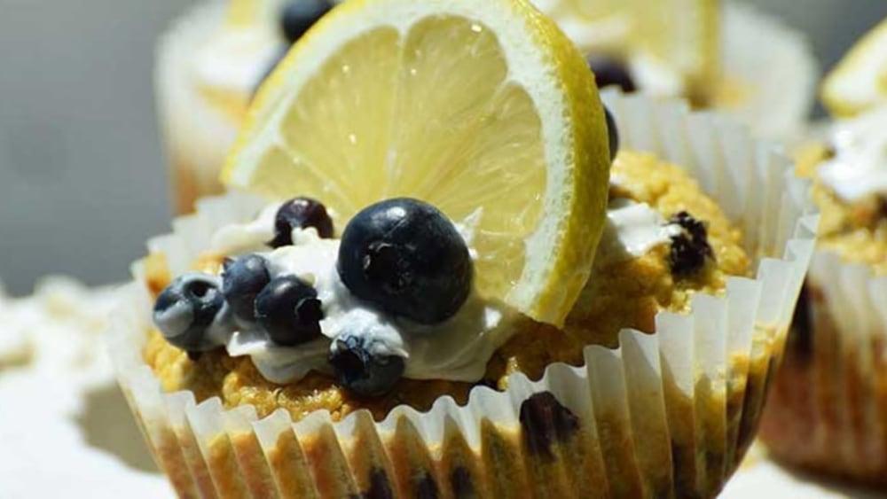 Image of Lemon Blueberry Gluten Free Muffins