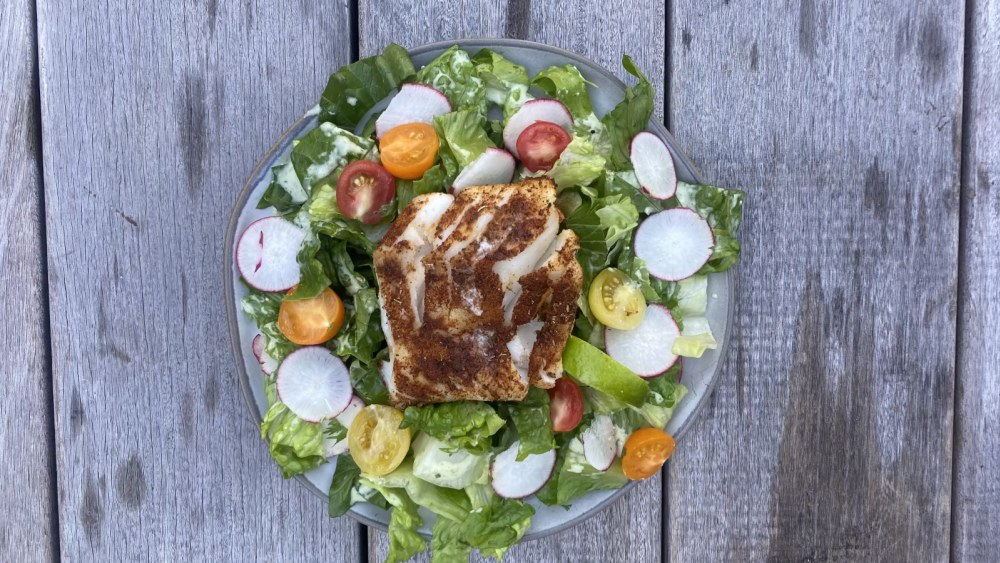 Image of Premier Catch Blackened Cod Salad