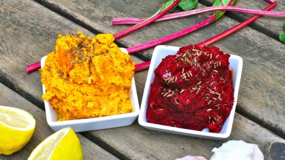 Image of Dip alternatives – beetroot and carrot
