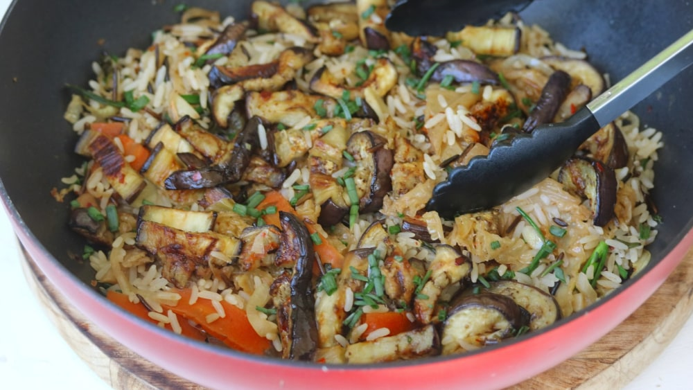 Image of Aubergine Fried Rice