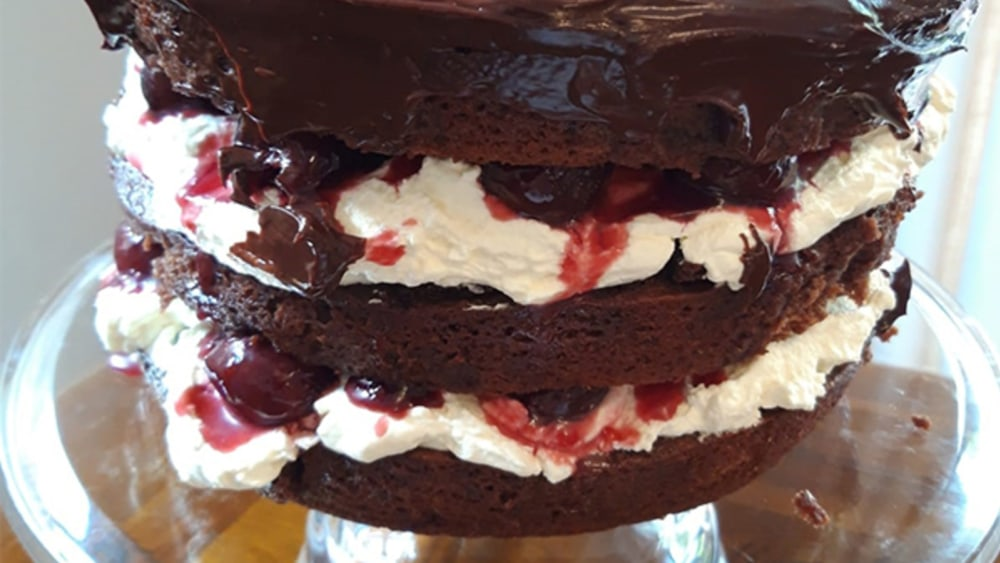 Image of A gooey Black Forest Gateau