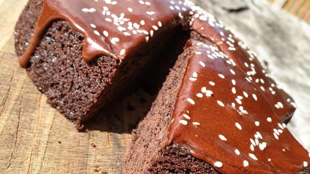 Image of Chocolate Olive Oil & Sesame Cake