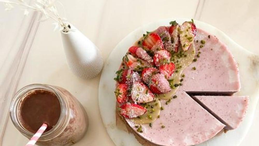 Image of Raw Strawberry Cheesecake