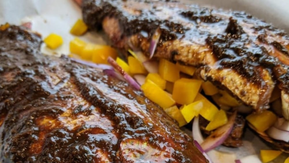 Image of JERK RED SNAPPER & PLANTAIN/RED ONION FRITTERS