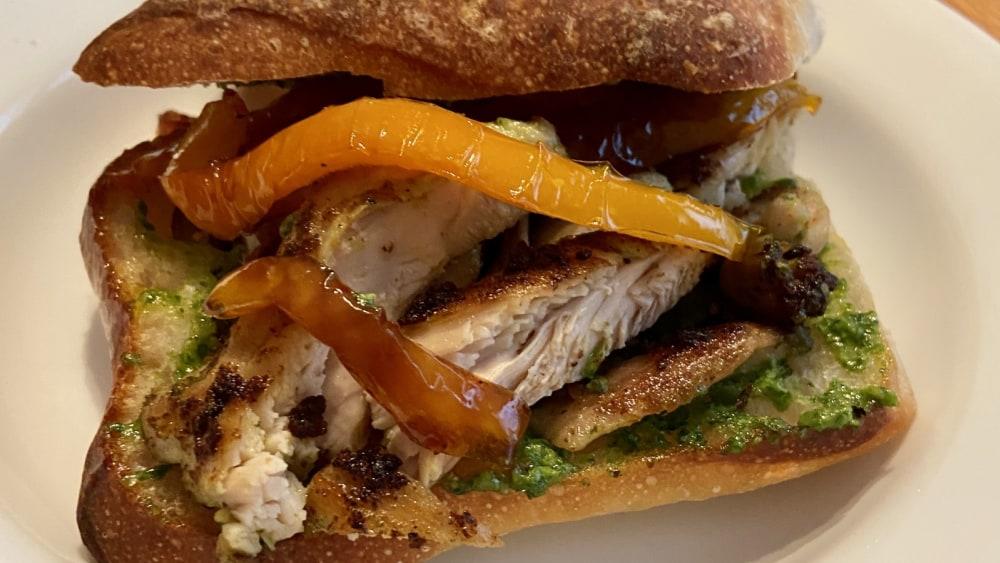 Image of Biancolilla Arugula Pistachio Pesto Chicken Sandwich