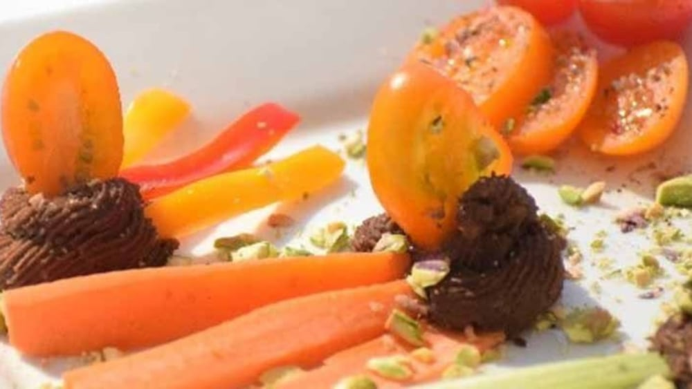 Image of Carob Maca Hummus with Fresh Veggie Sticks