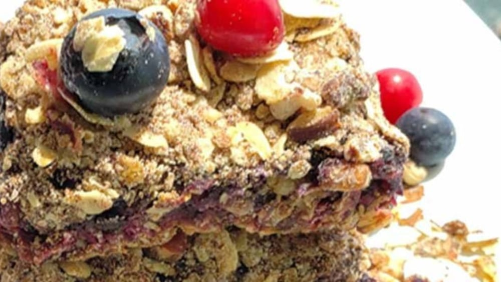Image of Partridgeberry Wild Blueberry Crumble with Pecan Topping