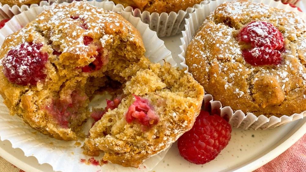 Image of Bananen-Himbeer Muffins