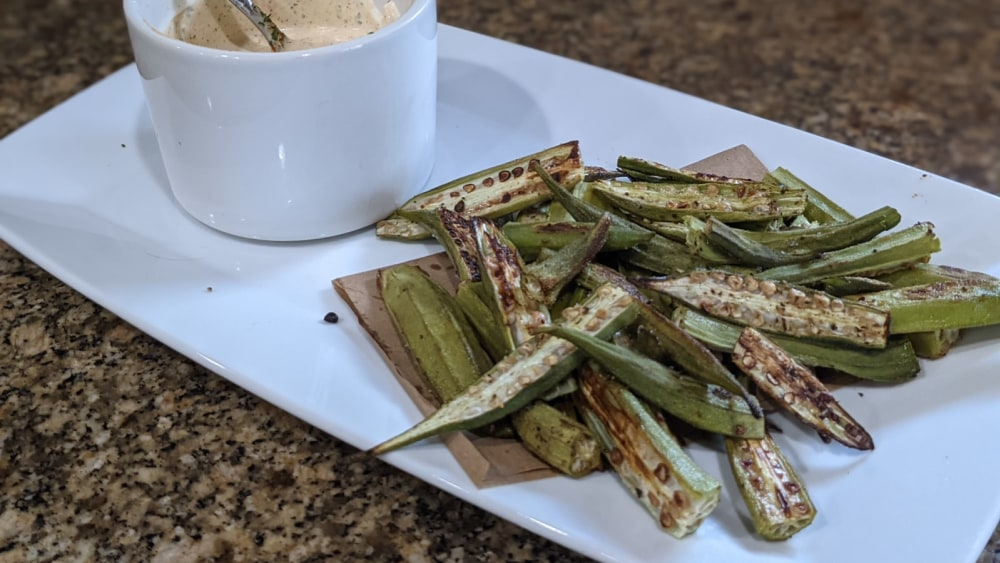 Image of Roasted Okra with Remoulade Dip