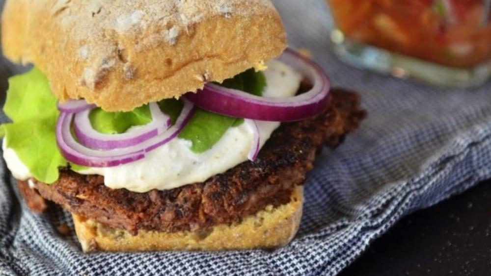Image of Kidney bean and tofu burger