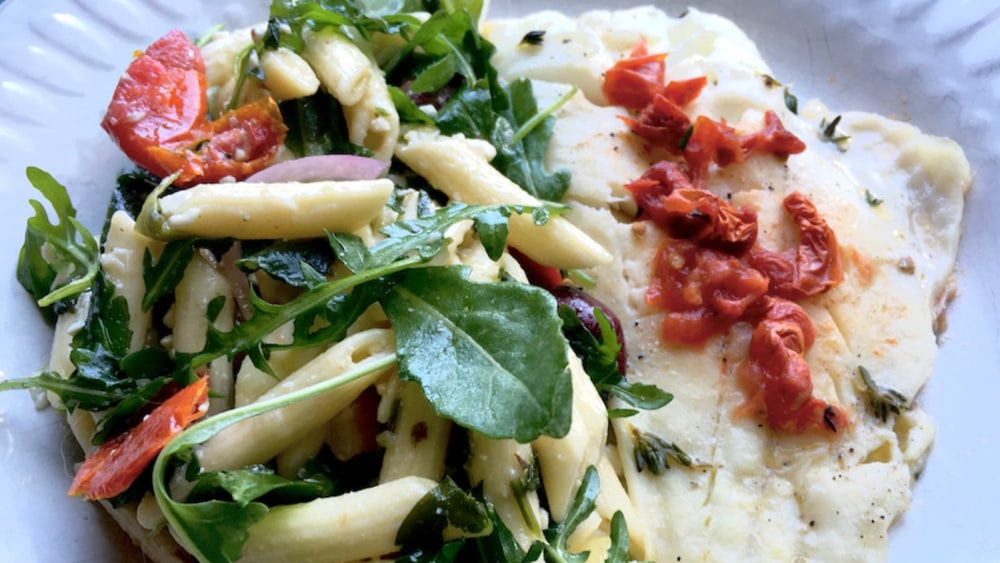 Image of Orange Roughy with Oven-Roasted Tomatoes