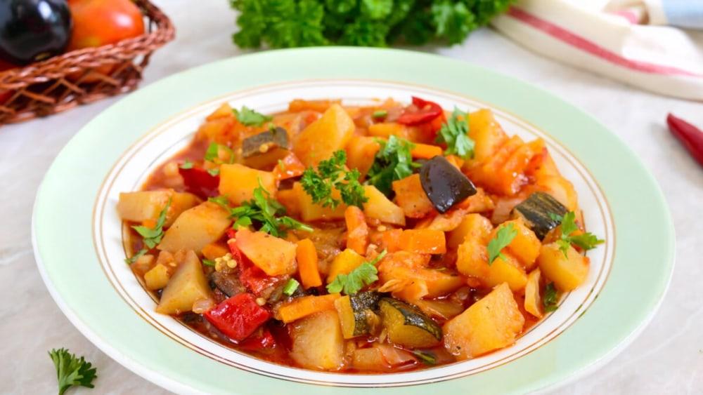 Image of Vegeterian Aubergine Stew