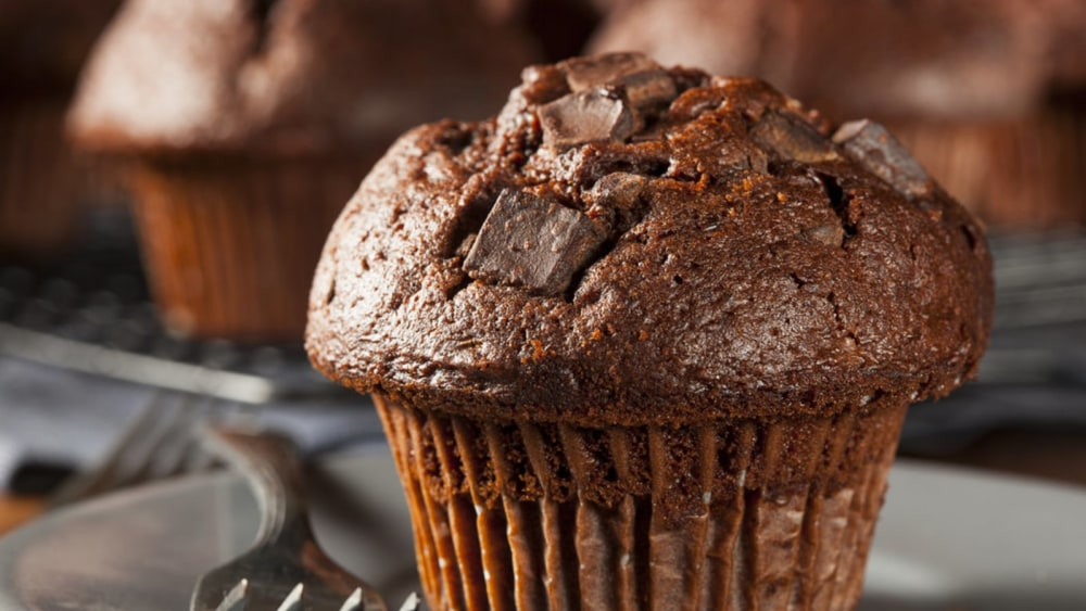 Image of Chocolate Muffin with Plum Jam