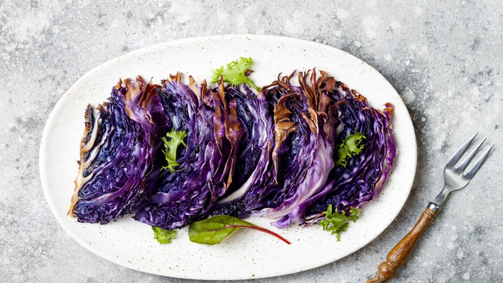 Image of Roasted Red Cabbage with Honey-Mustard Vinaigrette