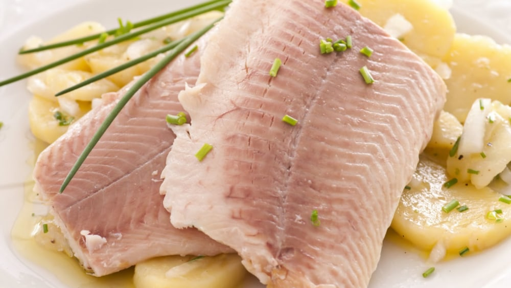 Image of Trout Fillet with Potato Salad