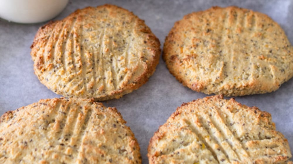Image of Vegan Lemon & Chia Seed Protein Cookies