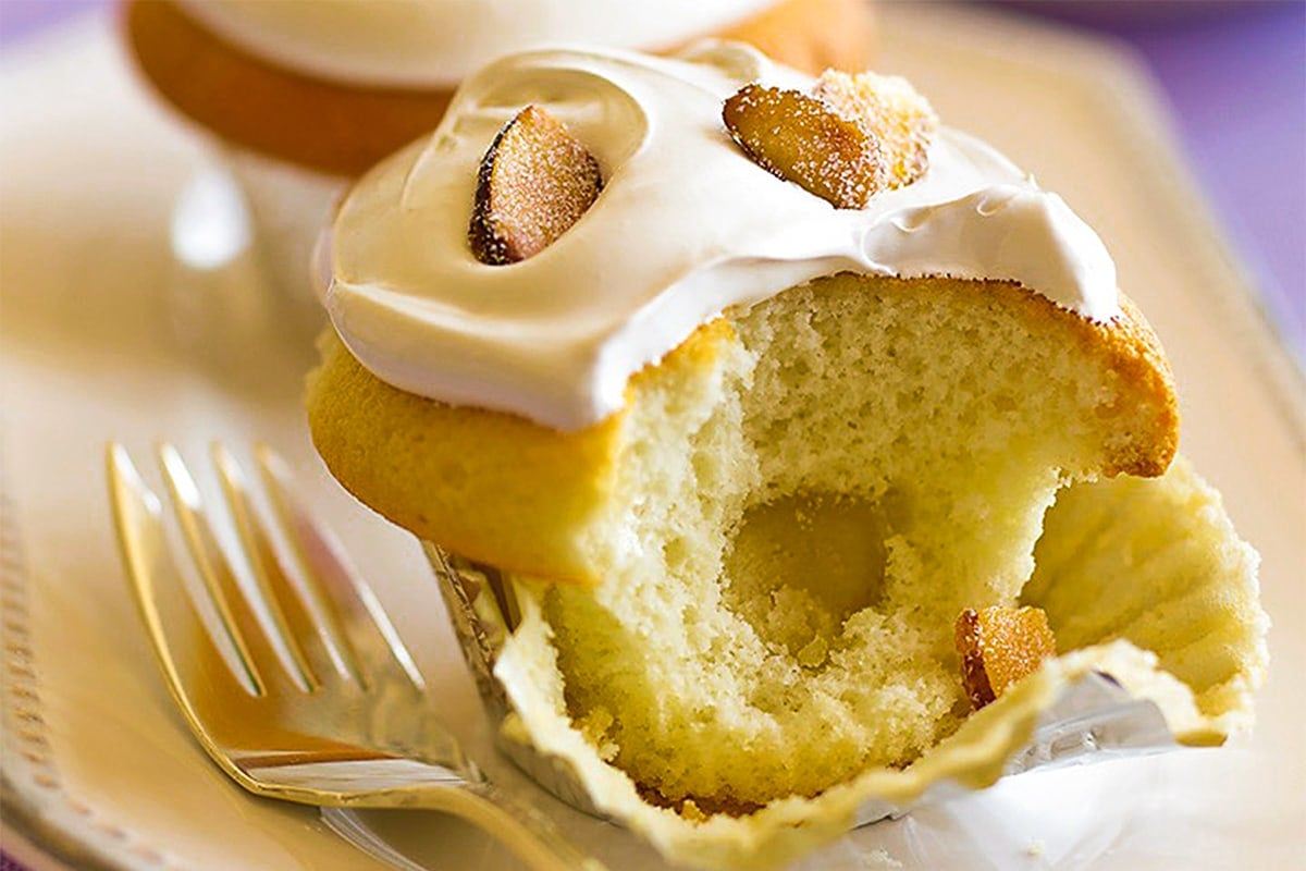 Image of Almond Pear and Salted Caramel Cupcakes