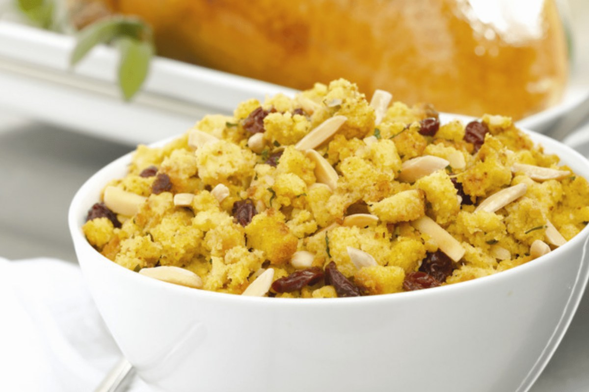Image of Turkey Breast With Cranberry Almond Stuffing