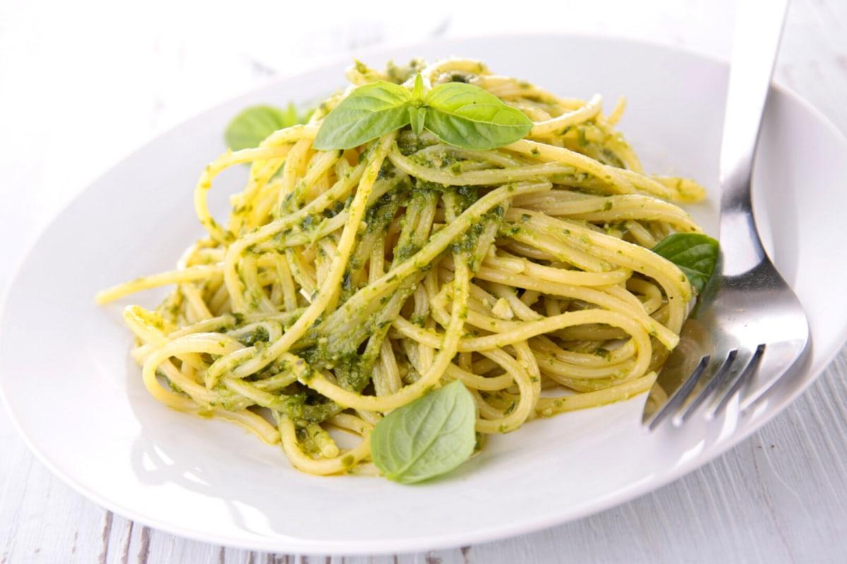 Image of Spaghetti With Almond Pesto