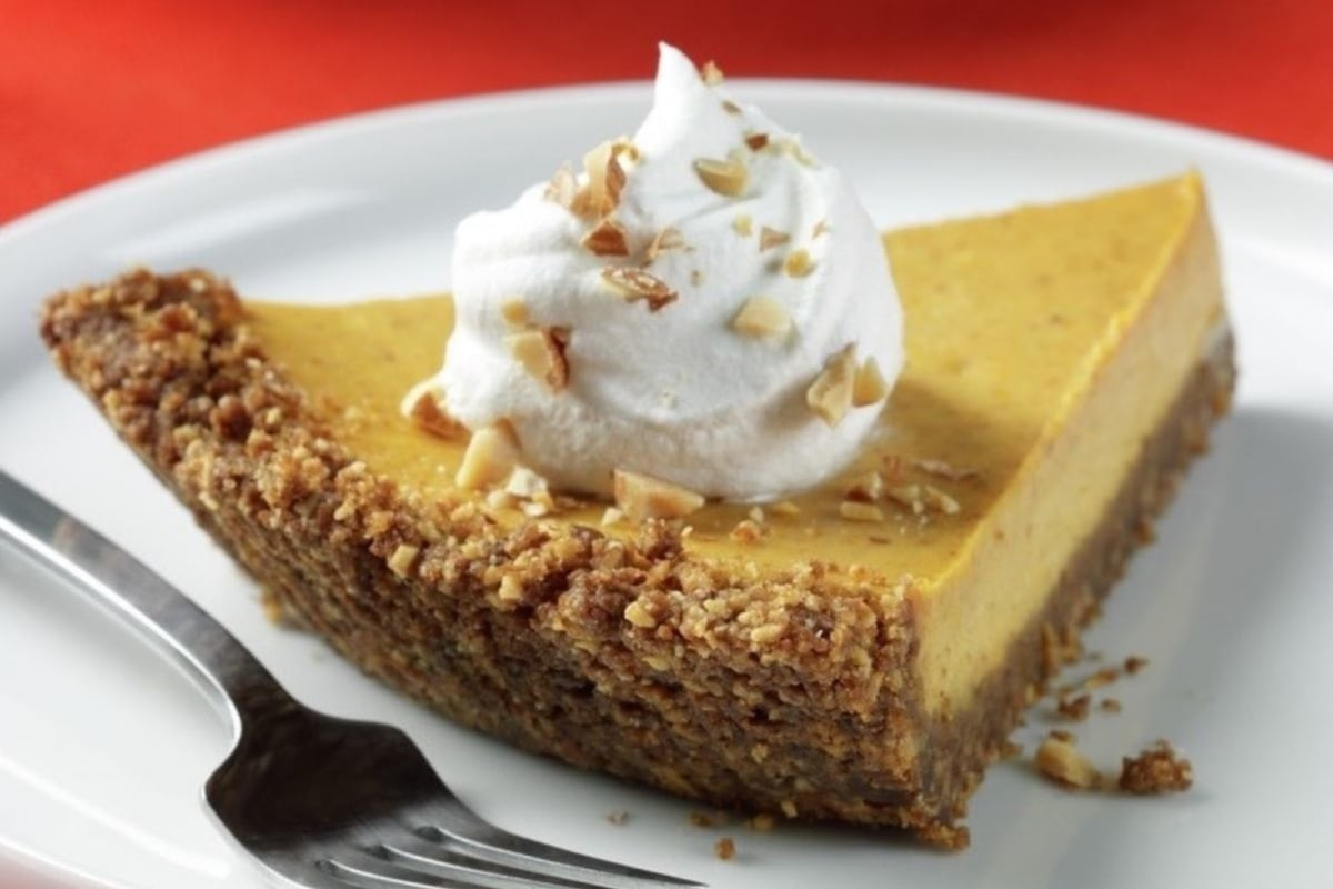 Image of Almond Crusted Pumpkin Cheesecake