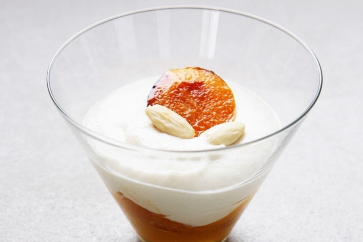 Image of Florian Bellanger's Almond Mousse and Apricot Verrine