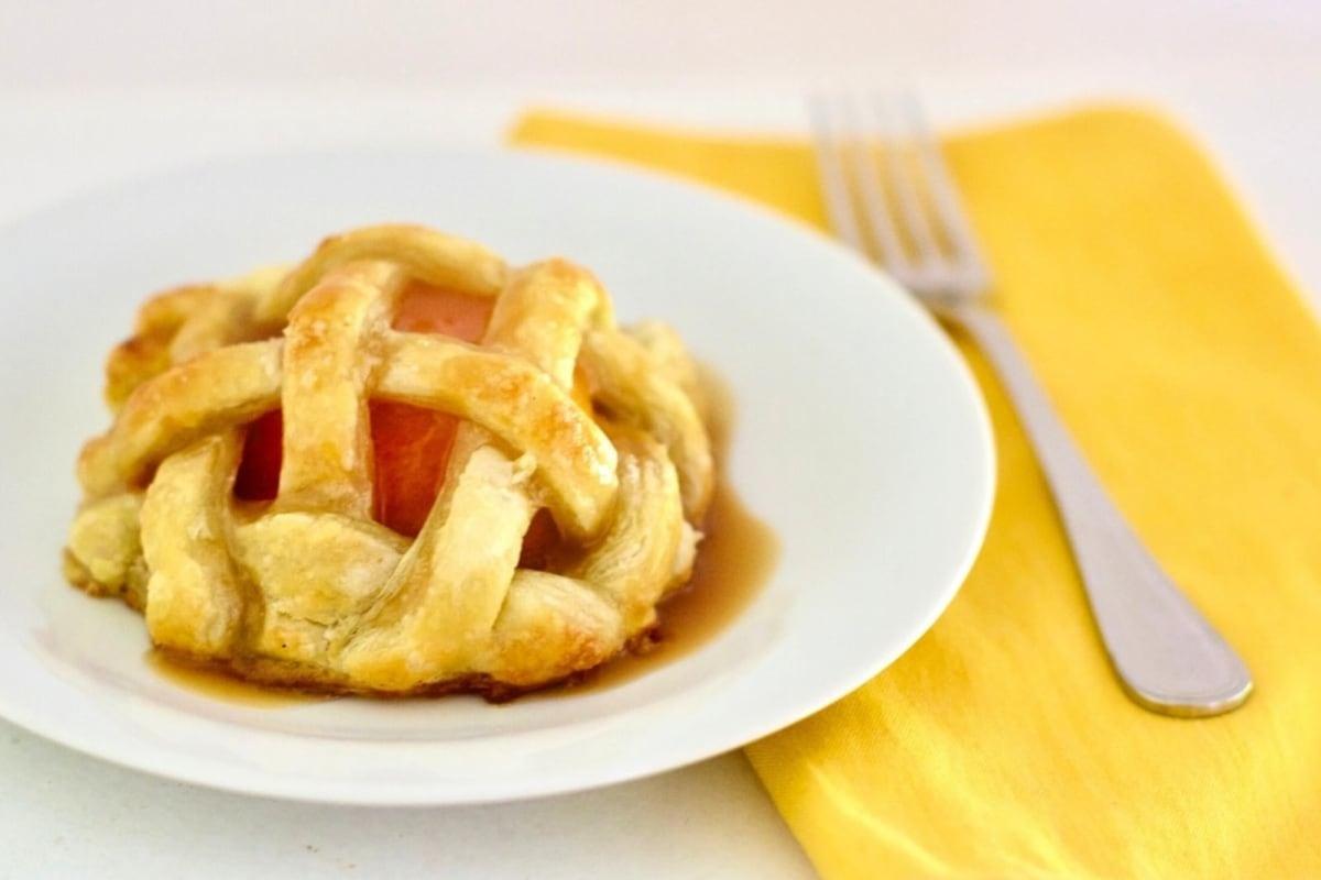 Image of Baked Lattice Peaches