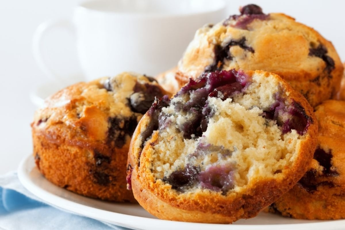 Image of Blueberry Almond Muffins