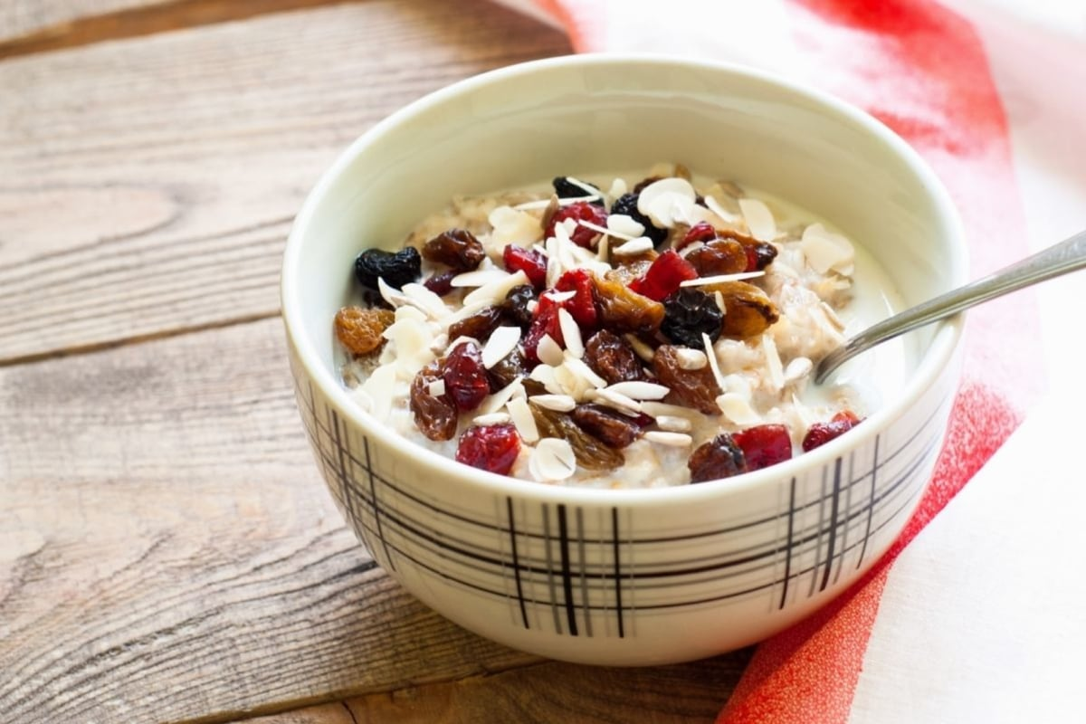 Image of Hearty Oats with Fruit and Almonds