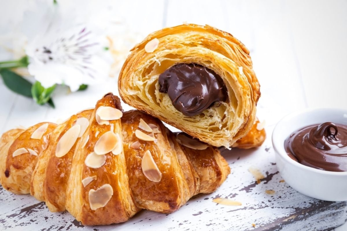 Image of Easy Almond Paste and Chocolate Croissants
