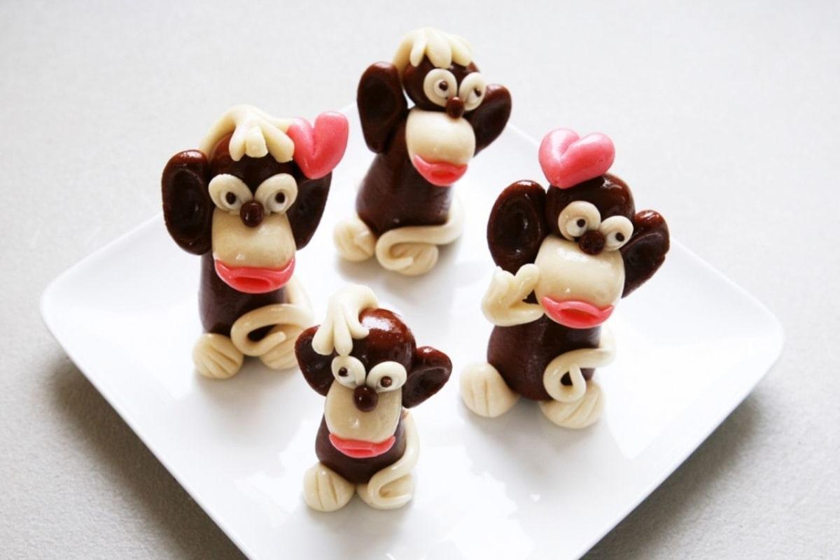 Image of Marzipan Monkey Figurine