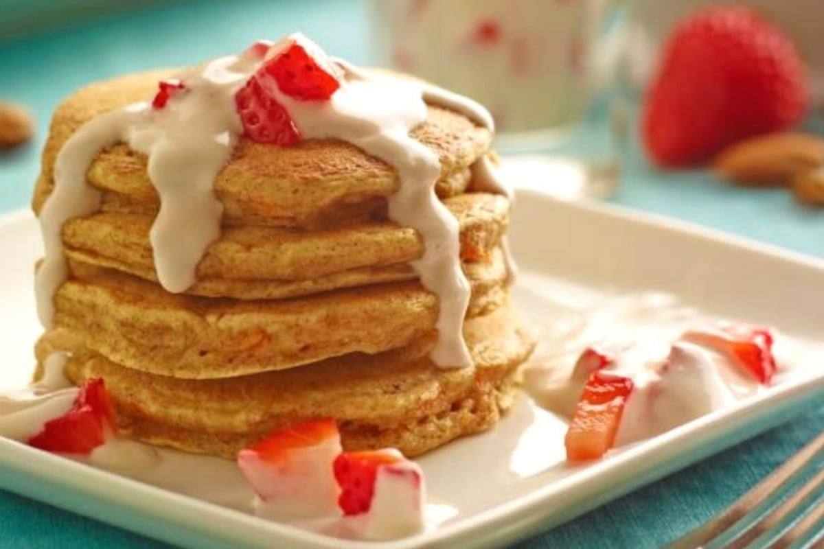 Image of Carrot Cake Almond Pancakes