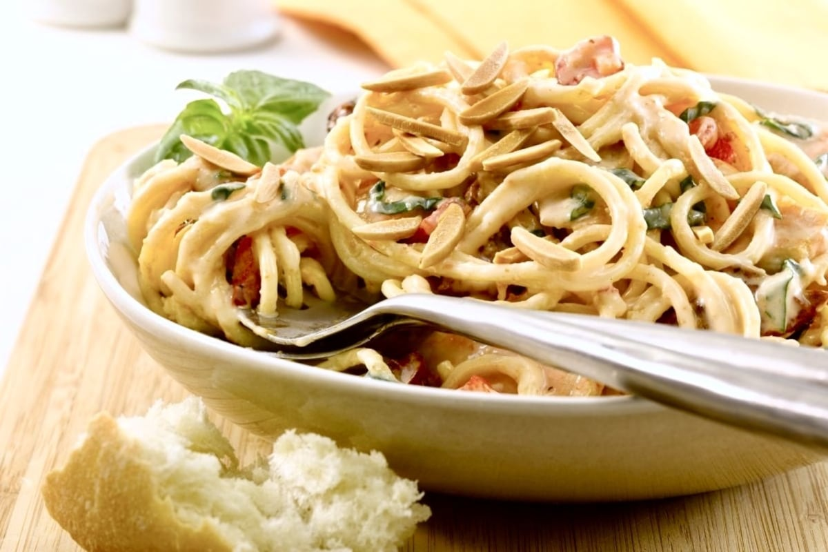 Image of Pantry Pasta with Chicken and Almond Cream