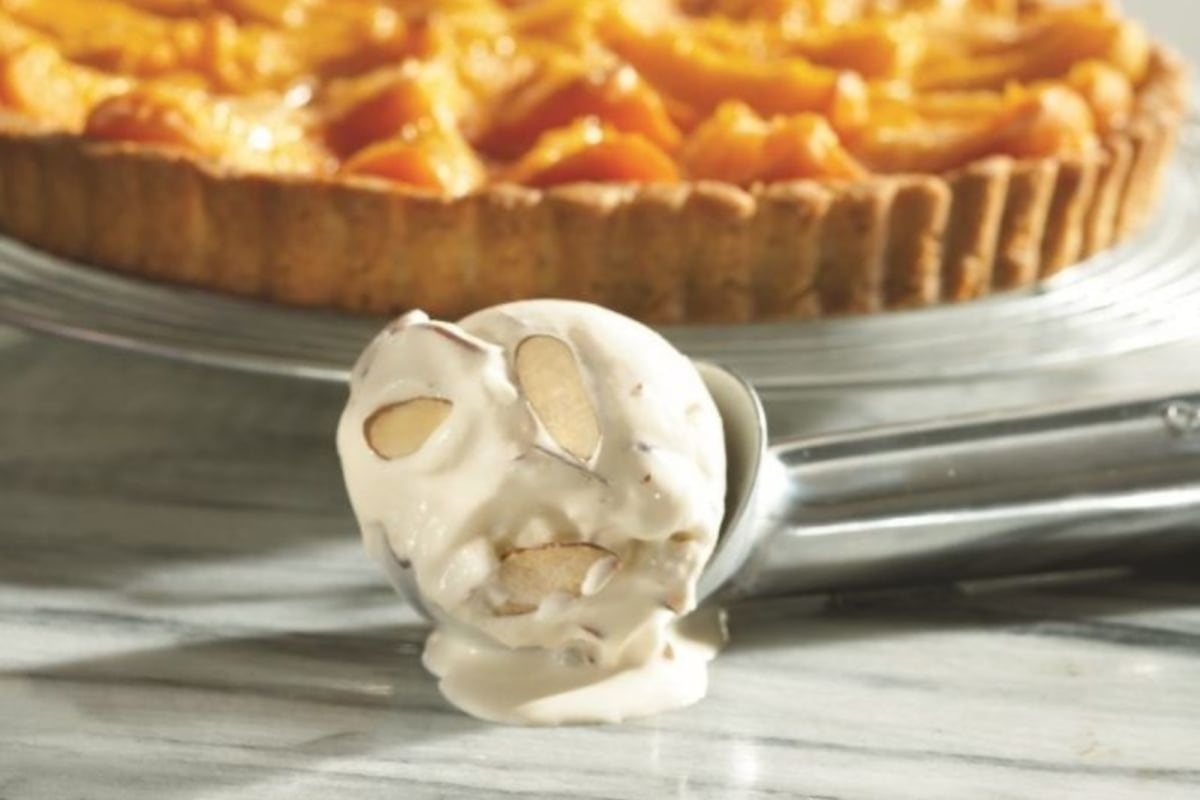 Image of Glorious Apricot Tart with Roasted Almond Ice Cream