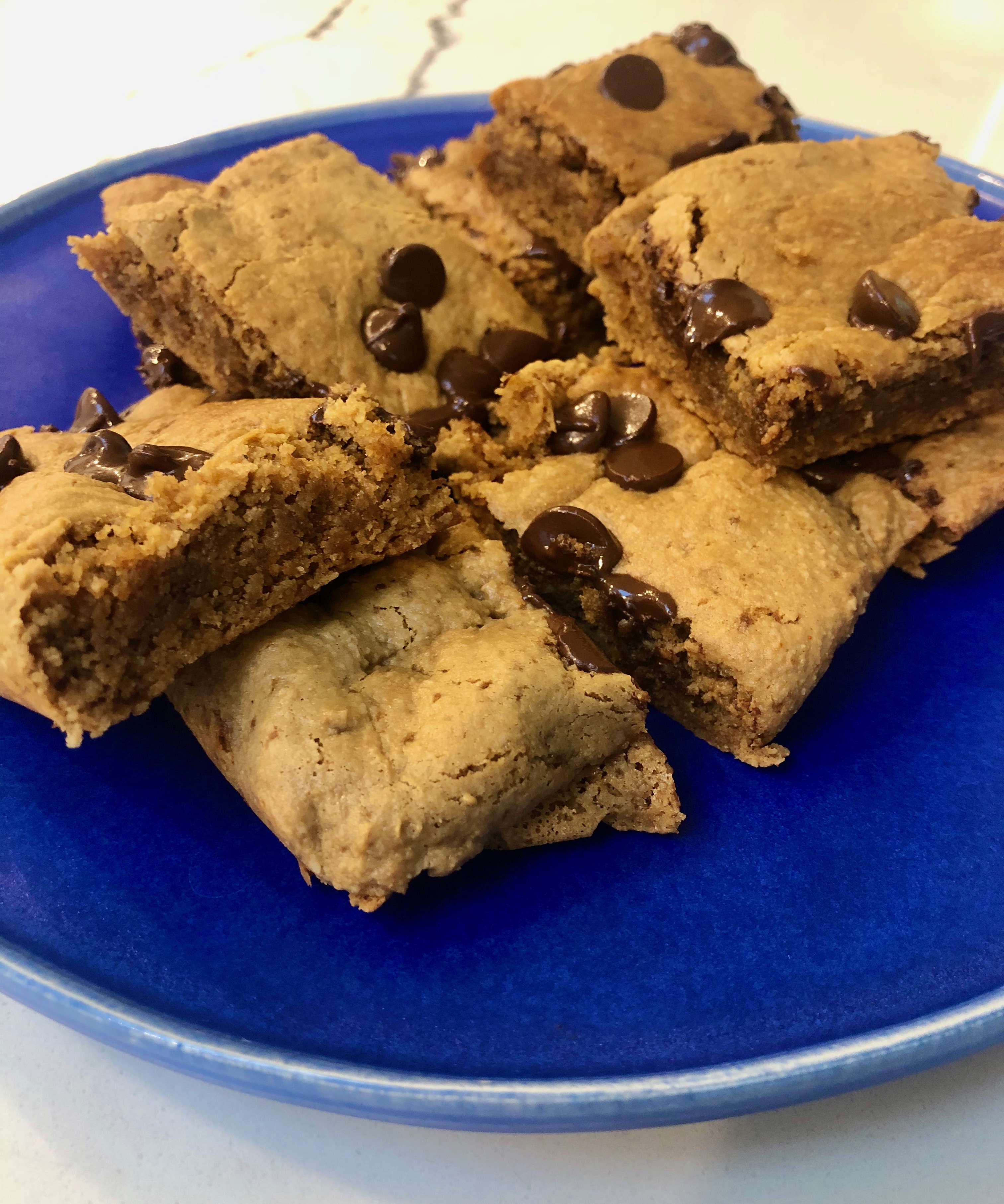 Image ofChewy Cookie Dough Squares with Plant Protein