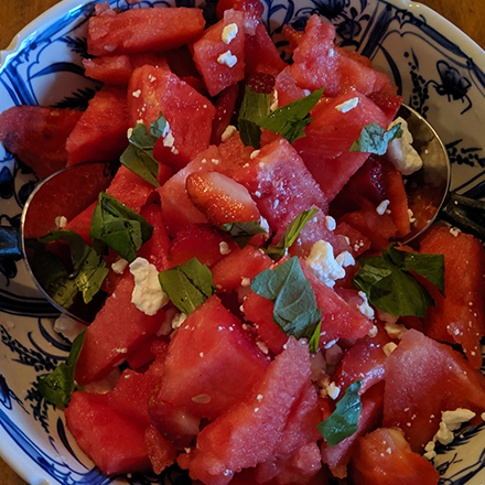 Image ofWatermelon Strawberry Caprese Salad